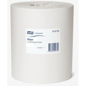 TORK ADVANCED WIPER 415 1 PLY 21.5cm CENTREFEED ROLLS WHITE (275m) x 6