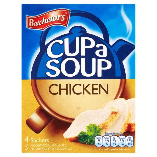 BATCHELORS CUP-A-SOUP SACHETS CHICKEN (4 SACHETS) x 9