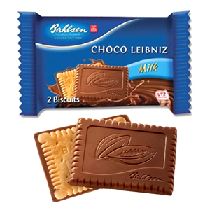 BAHLSEN CHOCO LEIBNIZ MILK CHOCOLATE BISCUITS MINI PACKS (2-pack) x 30