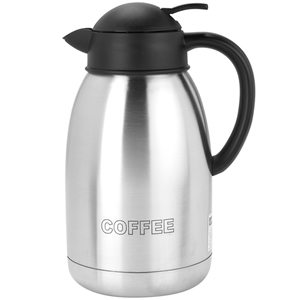 1.9L SHATTERPROOF STAINLESS STEEL COFFEE INSCRIBED VACUUM JUG