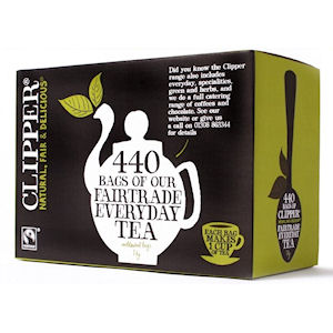 CLIPPER FAIRTRADE EVERYDAY TEA BAGS (440 bags)