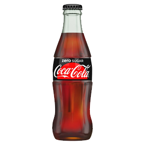 COKE ZERO ICON GLASS BOTTLES (330ml) x 24