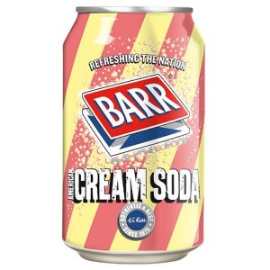 BARR AMERICAN CREAM SODA CANS (330ml) x 24