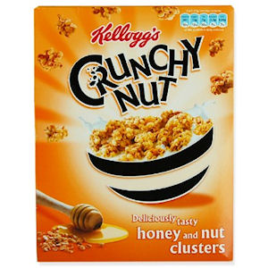 KELLOGG'S CRUNCHY NUT CLUSTERS HONEY & NUT (450g) x 10