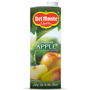 DEL MONTE PURE APPLE JUICE (1L) x 6