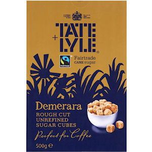 TATE & LYLE FAIRTRADE DEMERARA ROUGH CUT UNREFINED SUGAR CUBES (1kg)
