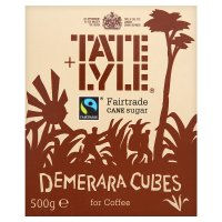TATE & LYLE FAIRTRADE DEMERARA SUGAR CUBES (500g) x 10