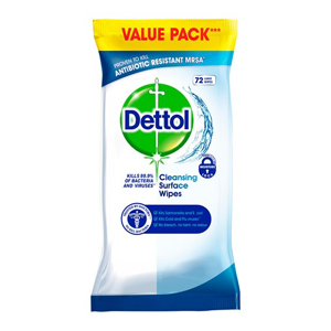 DETTOL ANTIBACTERIAL SURFACE WIPES (72-pack)
