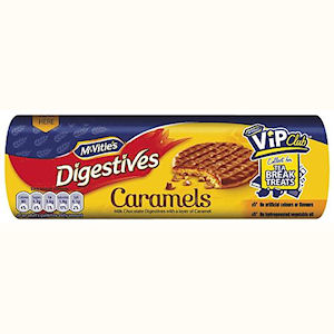 McVITIE'S DIGESTIVES MILK CHOCOLATE CARAMEL (300g) x 12