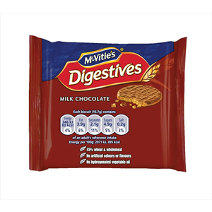 McVITIE'S MILK CHOCOLATE DIGESTIVES MINI PACKS (2-pack) x 48