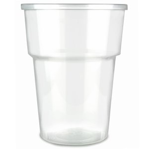 PLASTIC GLASSES CLEAR (half pint/284ml) x 1000
