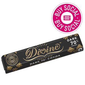DIVINE 70% DARK CHOCOLATE BAR (40g) x 30