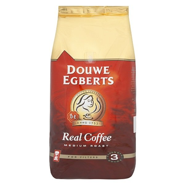 DOUWE EGBERTS REAL COFFEE MEDIUM ROAST FILTER COFFEE (1kg) x 6
