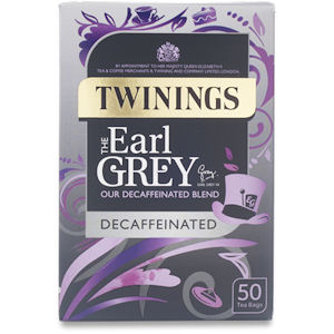 TWININGS EARL GREY DECAFFEINATED TEA BAGS (50 bags)