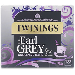 TWININGS EARL GREY TEA BAGS (100 bags)