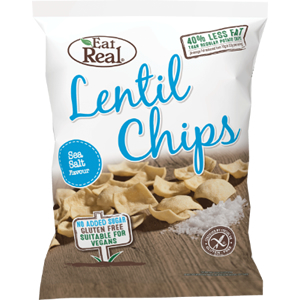 EAT REAL LENTIL SEA SALT CHIPS (22g) x 24