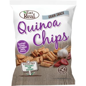 EAT REAL QUINOA SUNDRIED TOMATO & ROASTED GARLIC CHIPS (22g) x 24