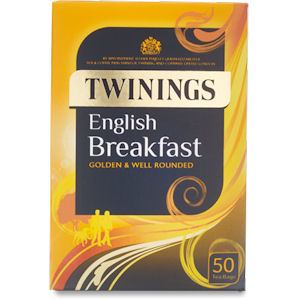TWININGS ENGLISH BREAKFAST TAG & ENVELOPE TEA BAGS (50 bags)
