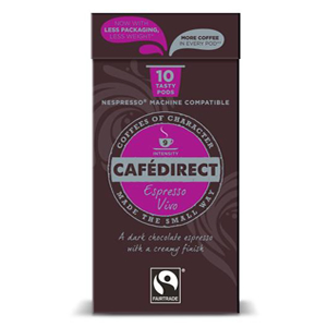 CAFÉDIRECT NESPRESSO COMPATIBLE COFFEE CAPSULES - ESPRESSO VIVO INTENSITY 9 (10 pods)