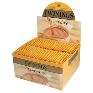 TWININGS EVERYDAY TAG & ENVELOPE TEA BAGS (50 bags)