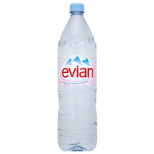 EVIAN SPRING WATER - PLASTIC BOTTLES (1.5L) x 12