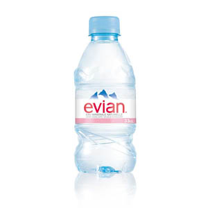 EVIAN SPRING WATER PLASTIC BOTTLES (330ml) x 24