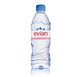 EVIAN SPRING WATER - PLASTIC BOTTLES (500ml) x 24