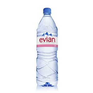EVIAN SPRING WATER - PLASTIC BOTTLES (1.5L) x 8