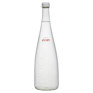 EVIAN SPRING WATER - GLASS BOTTLES (750ml) x 12