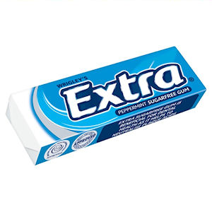 WRIGLEY'S EXTRA SUGAR FREE PEPPERMINT CHEWING GUM (14g) x 30 packs
