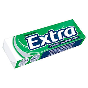 WRIGLEY'S EXTRA SUGAR FREE SPEARMINT CHEWING GUM (14g) x 30 packs