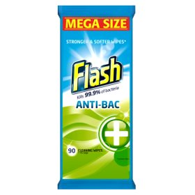 FLASH ALL PURPOSE ANTIBACTERIAL CLEANING WIPES (90s)