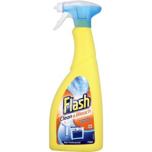 FLASH SPRAY CLEAN & BLEACH (750ml) x 10