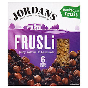 JORDANS FRUSLI RAISIN & HAZELNUT CEREAL BARS (30g) x 24