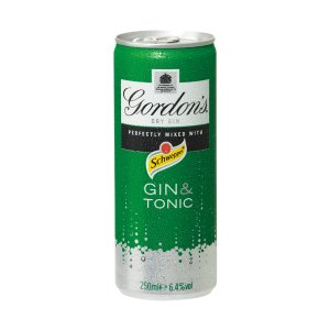 GORDON'S SPECIAL DRY LONDON GIN & TONIC CANS (250ml) x 12