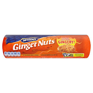 McVITIE'S GINGER NUTS (250g) x 12