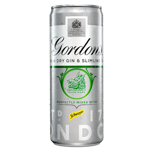 GORDON'S SPECIAL DRY LONDON GIN & TONIC SLIMLINE CANS (250ml) x 12