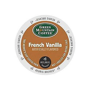 KEURIG K-CUP GREEN MOUNTAIN COFFEE FRENCH VANILLA - CASE OF 96 PODS (PACKED AS 4 BOXES OF 24 INDIVIDUAL PODS)