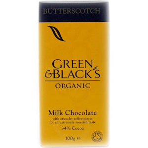 GREEN & BLACK'S CHOCOLATE BARS BUTTERSCOTCH (35g) x 30