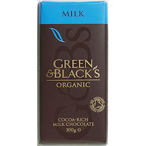 GREEN & BLACK'S CHOCOLATE BARS MILK (35g) x 30
