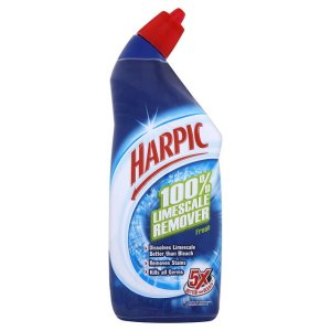 HARPIC TOILET CLEANER WITH LIMESCALE REMOVER (750ml) x 6