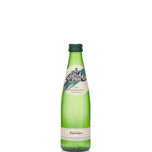 HIGHLAND SPRING WATER SPARKLING - GREEN GLASS BOTTLES (330ml) x 24