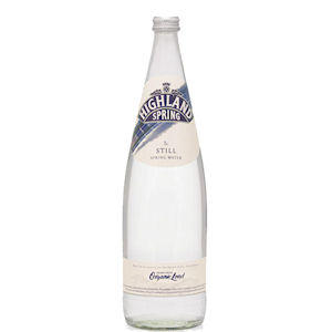 HIGHLAND SPRING WATER STILL - CLEAR GLASS BOTTLES (1L) x 12