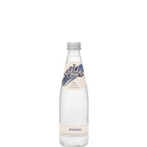 HIGHLAND SPRING WATER STILL - CLEAR GLASS BOTTLES (330ml) x 24