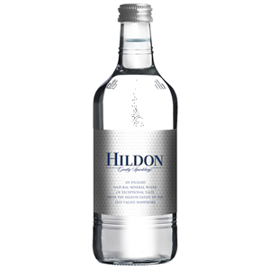 HILDON MINERAL WATER SPARKLING - CLEAR GLASS BOTTLES (750ml) x 12