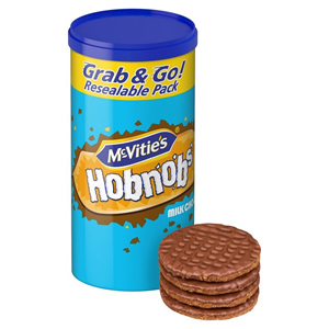 McVITIE'S HOBNOBS MILK CHOCOLATE TUBE (205g) x 12