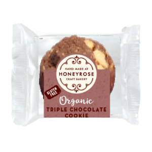 HONEY ROSE MINI ORGANIC TRIPLE CHOCOLATE COOKIE (25g) x 42
