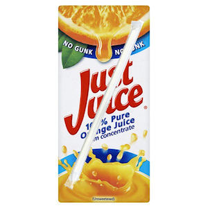 JUST JUICE PURE ORANGE JUICE (200ml) x 24