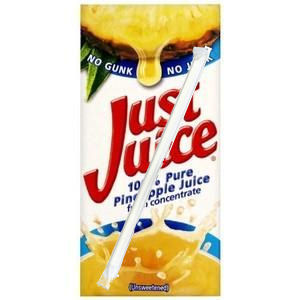 JUST JUICE PURE PINEAPPLE JUICE (200ml) x 24