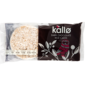 KALLO DARK CHOCOLATE RICE CAKES (6s) x 12
